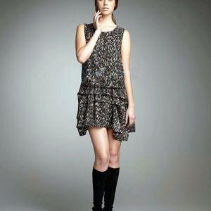 Theory Rikina Flame Silk Mini Dress